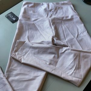 NWT onzie shiny rose gold foil high waist leggings